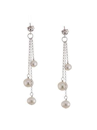 Valero Pearls 60201340 - Pendientes de mujer de plata de ley con perlas (6 perlas)