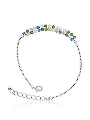 Shiny Cristal Armband  rhodiniertes Silber 925/gelb/violett