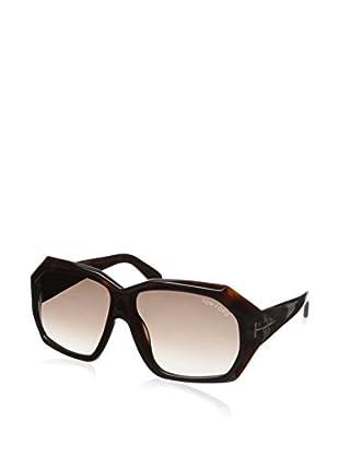 Tom Ford Women's FT0266 Sunglasses, Dark Brown, 61-13-130