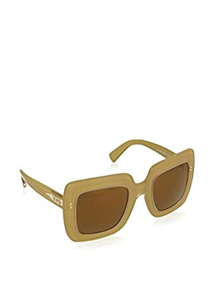 DOLCE & GABBANA TOP GOLD ON GOLD WITH BROWNMIRRORBRONZE