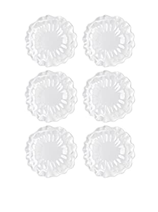 Q Squared NYC Set of 6 Peony Dinner Plates