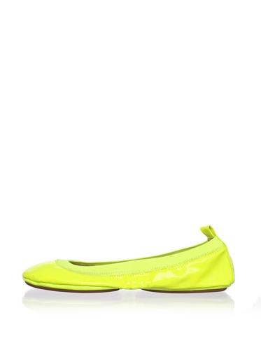 Yosi Samra Women's Neon Ballet Flat (Lemon)