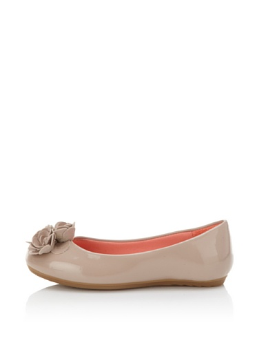 Pampili Kid's Mariana 251 Ballet Flat with Rosettes (Beige)