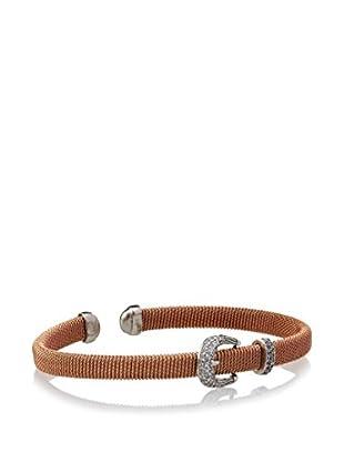 Argento Vivo Cz Belt Buckle Cuff Bracelet