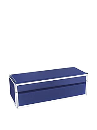 American Atelier Rectangle Jewelry Box with Piping, Eggplant