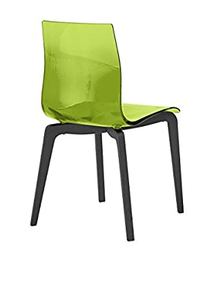 Domitalia Gel Chair, Transparent Green/Black
