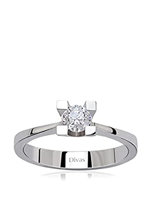 Divas Diamond Ring 0.25 ct Gold Diamond Solitaire