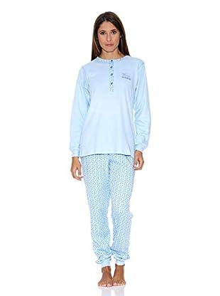 Bkb Pijama Bordada (Celeste)