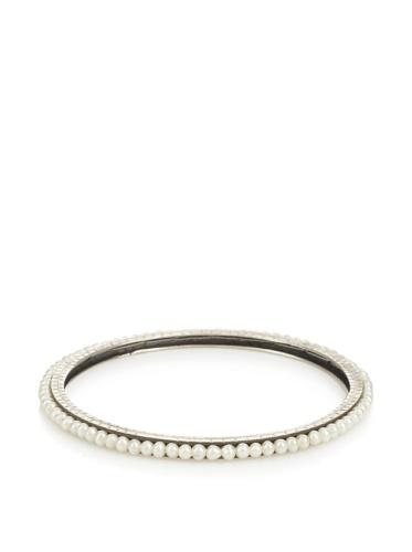 Himatsingka Pearl Sterling Silver Bangle