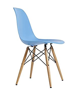 Set De 2 Sillas Wooden New Color Collection Azul