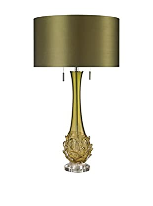 Artistic Lighting Free Blown Glass Table Lamp, Green
