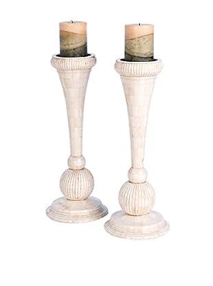 Go Home Set of 2 Martine Candlesticks