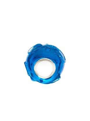 Bacio Abalorio de Plata de Ley 925  Murano Azul