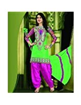 115414_Conspicuous Resham Embroidered Green and Pink Patiala Suit