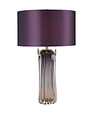 Artistic Lighting Free Blown Glass Table Lamp, Purple