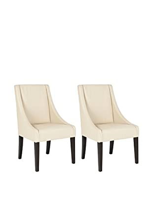 Safavieh Set of 2 Britannia Kd Side Chairs, Cream