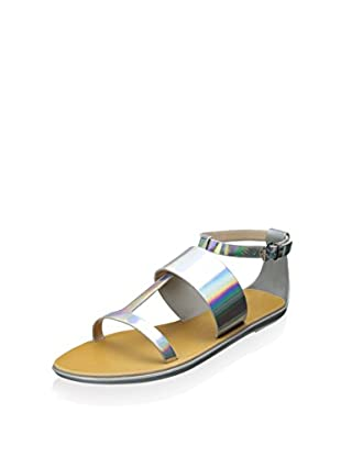 French Connection Women's Tamara Jelly Sandal (Silver)