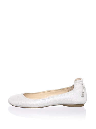 Calvin Klein Women's Priya Dusty Ballet Flat (Antique White)