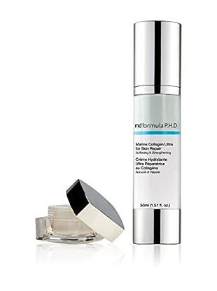 MD FORMULA  Beauty-Set 2 tlg. Eye Serum regenerating Night, Marine Kollagen Skin Repair Creme
