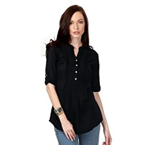 Allen Solly Women's Cotton Blouse-Black
