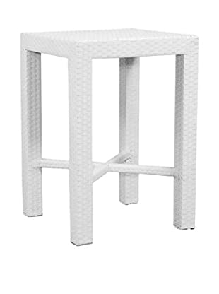 Jeffan Keys Bar Table, White
