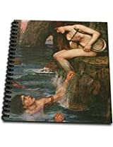 3dRose db1272191 The Siren by John William Waterhouse Drawing Book, 8 by 8-Inch