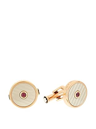 Montblanc Manschettenknopf 107585 stahl/goldfarben