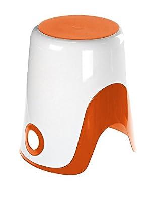 Gedy by Nameek's Wendy Bathroom Stool 7073-93, White/Orange