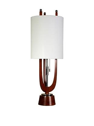 StyleCraft Wood/Steel Table Lamp, Portland