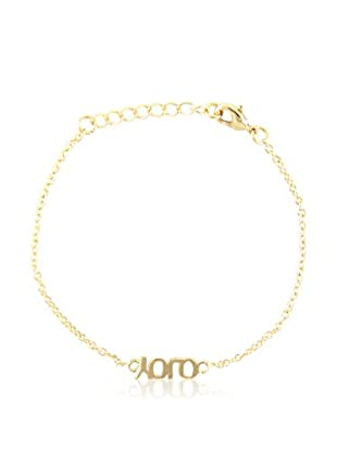 Ettika 18K Gold-Plated YOLO Chain Bracelet