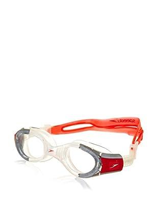 Speedo Schwimmbrille Junior Futura Biofuse rot/grau