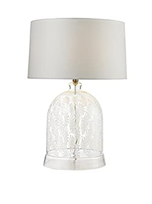 Artistic Lighting Table Lamp, Clear/White