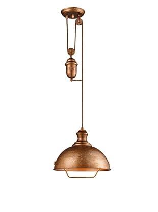 Artistic Lighting Farmhouse 1-Light Bellwether Pendant, Copper