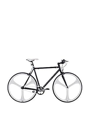 Schiano Fahrrad 28 Fixed Fly 56 Telaio Nero Ruote Bianche schwarz/weiß