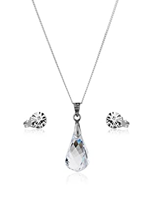 Diamond Style Set Kette, Anhänger und Ohrringe Drop Studs