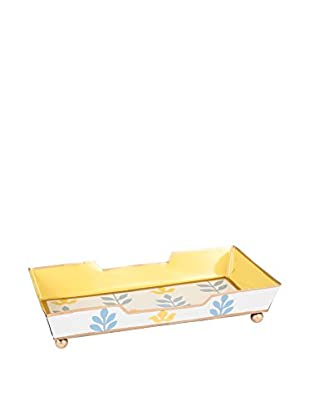 Jayes Foliage Guest Towel Tray, Blue