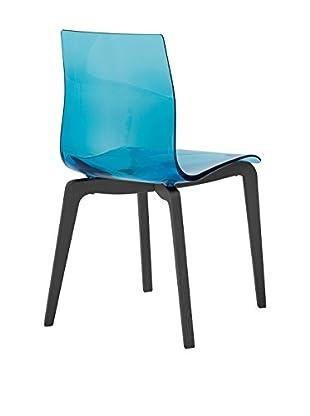 Domitalia Gel Chair, Transparent Blue/Black