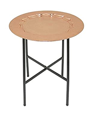 Three Hands Copper-Finished Accent Table