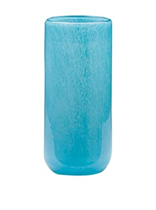 Dynasty Gallery Glass Tall Cylinder Vase, Blue Azure