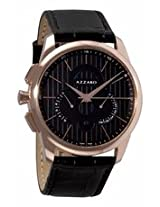 Azarro Legend Chronograph Black Dial Rose Gold-Tone Stainless Steel Mens Watch Az2060.53Bb.000