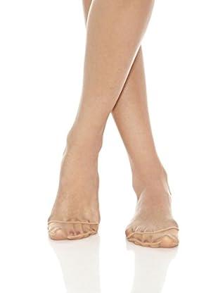 JANIRA Pack x 12 Medias Nylon Petir Para Zapatos Abiertos Transpirable