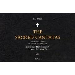 輸入盤CD アーノンクール&レオンハルト指揮 バッハ教会カンタータ全集 Bach: The Sacred Cantatas(60枚組)のAmazonの商品頁を開く