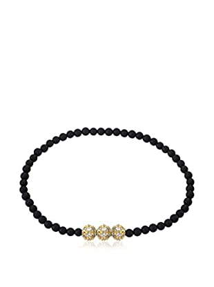 Riccova Avant-Garde Onyx Stretch Bracelet with CZ Pavé Beads