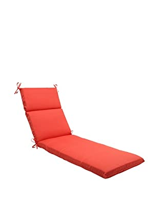 Pillow Perfect Outdoor Forsyth Coral Chaise Lounge Cushion, Orange