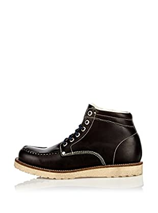Buffalo London Botas de Cordones Kentucky (Negro)