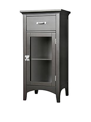 Elegant Home Fashions Madison Avenue Floor Cabinet with Door & Drawer, Dark Espresso