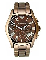Emporio Armani Chronograph Brown Dial Men's Watch - AR1610