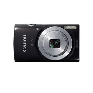 Canon IXUS 145 16MP Point and Shoot Camera (Black) with 8x Optical Zoom and Camera Case