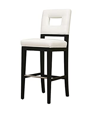 Baxton Studio Isa Leather Barstool, White