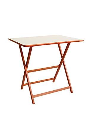 Valsecchi Home srl Tisch weiß/orange
